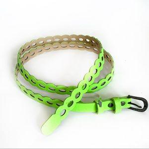 Accessories - Neon Green Laser Cut Belt